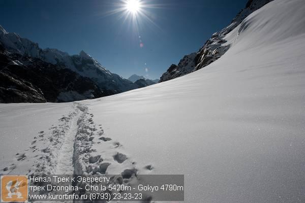 Перевал Чо Ла Пасс на высоте 5400 метров